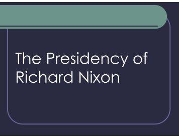 Nixon & Watergate