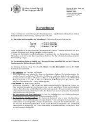 Kursordnung Behandlungskurs I SS 2011