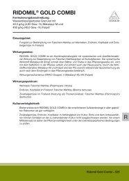 RIDOMIL GOLD COMBI Produktinformation - Syngenta