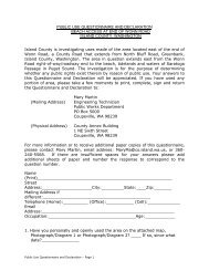 public use questionnaire and declaration - Island County Government