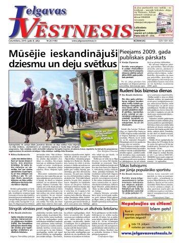 2010.gada 8.jūlijs Nr.26(160) - Jelgavas Vēstnesis