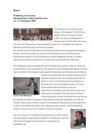 Report Wolfsberg Arts Forum Shooting Stars: Kunst und Karriere 16 ...