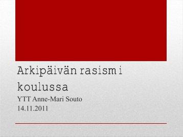 Arkipäivän rasismi koulussa - Edu.fi