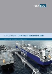 Consolidated and Company Annual Report and ... - FLEX LNG