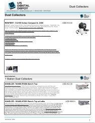 Dust Collectors Dust Collectors - Dental Supplies