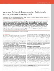 American College of Gastroenterology Guidelines for Colorectal ...