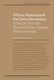 African Americans & the Green Revolution - National Urban League ...