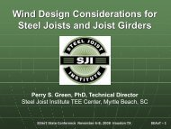 Wind Design Considerations for Steel Joists and Joist Girders - SEAoT