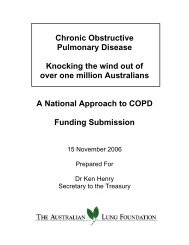 ALF COPD Budget Submission in full - Lung Foundation