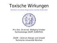 Toxische Wirkungen