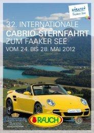 32. Int. Cabrio Sternfahrt zum Faaker See vom - Region Villach