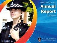 Annual Report - Devon & Cornwall Police