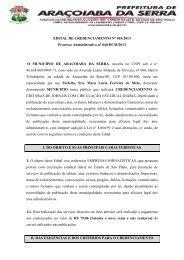 EDITAL DE CREDENCIAMENTO Nº ___/2013 - Aracoiaba.sp.gov.br