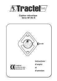 Informations d´utilisation - Tractel