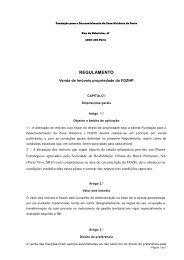 Regulamento para Venda - Anexo V - Porto Vivo