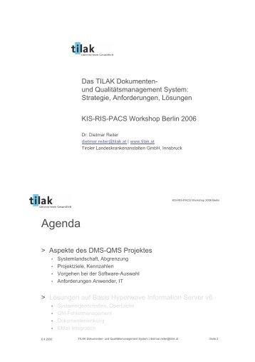 Digitale Archivlösung in einem KIS/KAS - unter Berücksichtigung ...