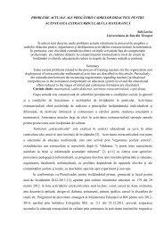 probleme actuale ale pregătirii cadrelor didactice pentru activitatea ...