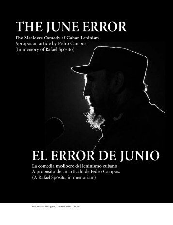 THE JUNE ERROR EL ERROR DE JUNIO - Utopian