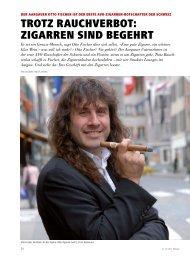 trOtZ rAuchVerBOt: ZigArren sinD Begehrt - Schweizer Hoteljournal