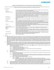 terms and conditions for the purchase of goods and services
