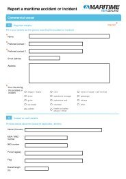 Incident, Accident reporting form - Maritime New Zealand