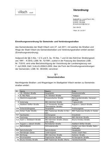 Verordnung - Villach