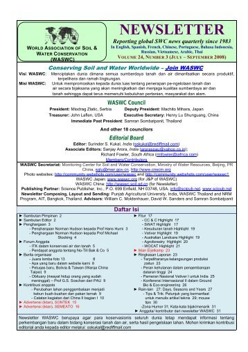 newsletter - World Association of Soil and Water Conservation