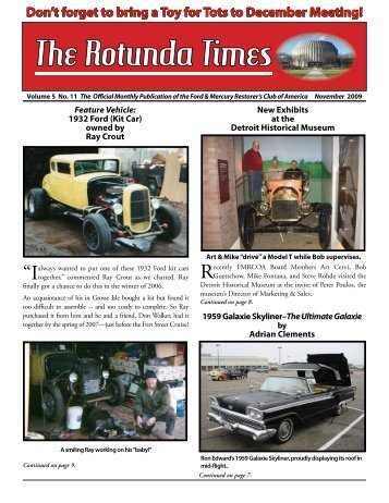 November 09 news_Screen.pdf - Ford & Mercury Restorers Club of ...