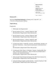 Niederschrift über die 2. Gemeinderatssitzung am Montag ... - Villach