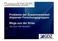 Probleme der Zusammenarbeit disperser ... - Stud.IP