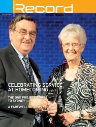 Celebrating serviCe at homeComing page 3 - RECORD.net.au