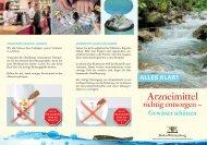 Arzneimittel richtig entsorgen - Gewässer schützen