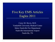 Five Key EMS Articles Eagles 2011 - Gathering of Eagles