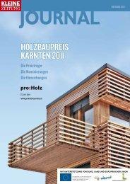 Holzbaupreis Kärnten 2011 (pdf) - proHolz Kärnten