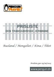 Den Transsibiriske Jernbane - Penguin Travel
