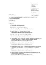 Niederschrift über die 4. Gemeinderatssitzung am Mittwoch ... - Villach