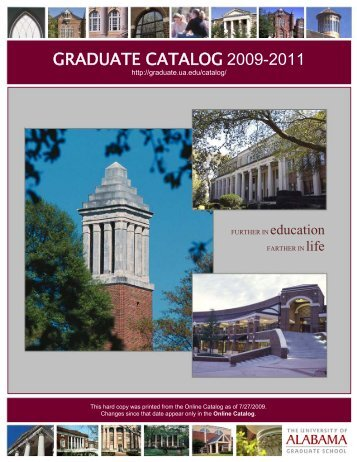 graduate catalog 2009-2011 - Graduate School - The University of ...