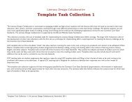 Template Task Collection 1 - Literacy Design Collaborative