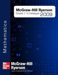 Mathematics 9 - McGraw-Hill Ryerson