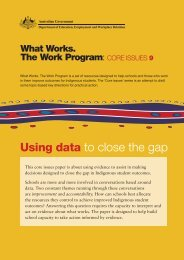 core issue 9. Using data to close the gap - What Works