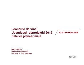 Eelarve planeerimine - Archimedes