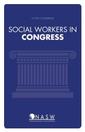 SW IN CONGRESS —110TH - National Association of Social Workers