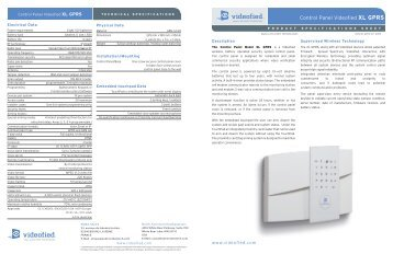 Control Panel Videofied XL GPRS - 24/7 Onsite Cameras