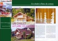 Un chalet à flanc de coteau - Chalet & Maison bois Poirot