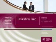 Audit Committees - Center for Corporate Governance - Deloitte
