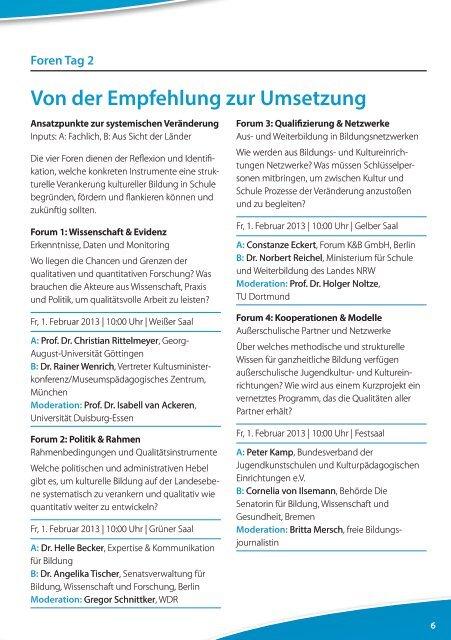 Veranstaltungsprogramm: Auf einem kreativen Weg - Stiftung Mercator