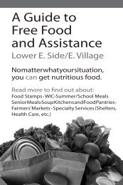 A Guide to Free Food and Assistance