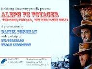 Aleph vs Voyager - IGeLU