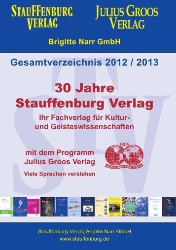 und Geisteswissenschaften mit dem Programm Julius Groos Verlag