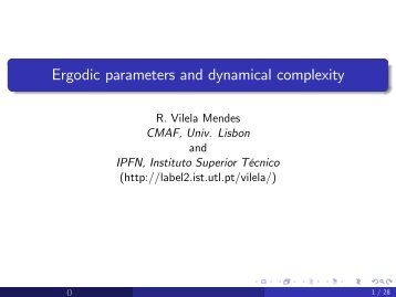 Ergodic parameters and dynamical complexity